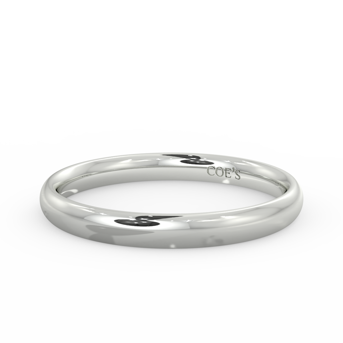 Ladies Court Light Weight Wedding Band