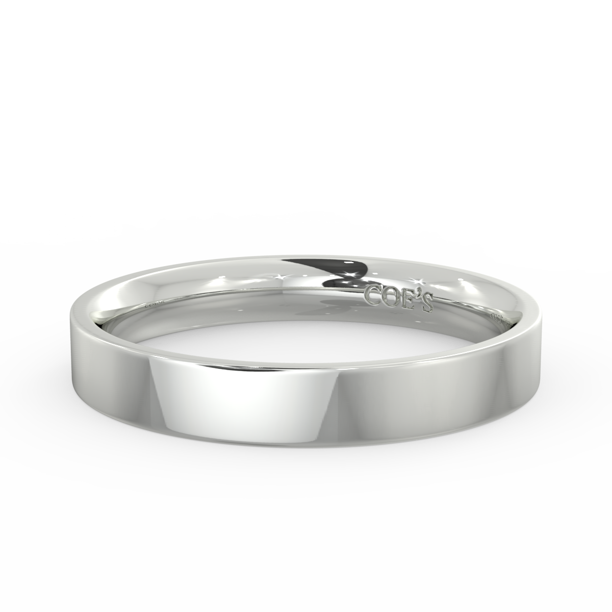 Ladies Flat Court Medium Weight Wedding Band