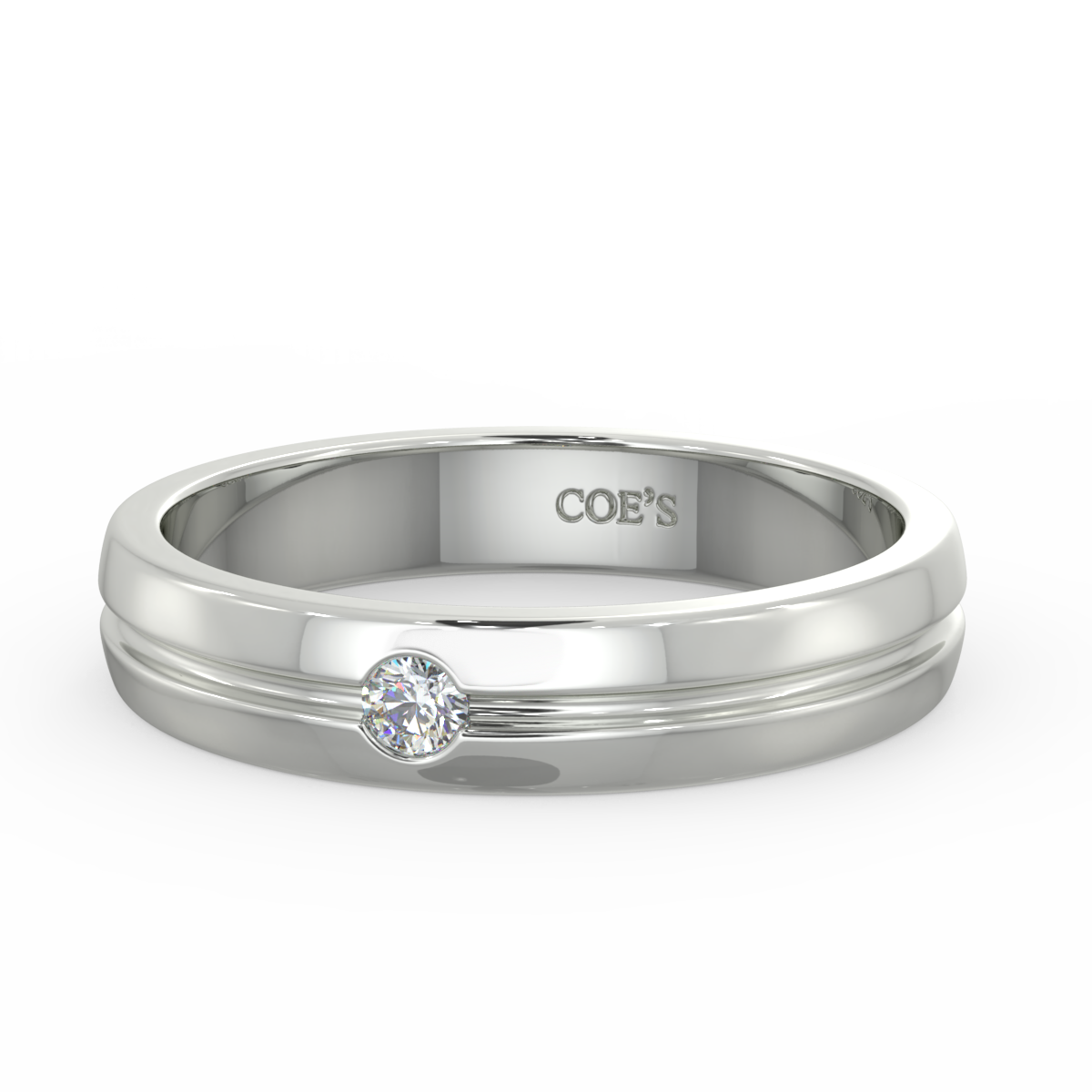 Charles - Mens diamond set wedding band