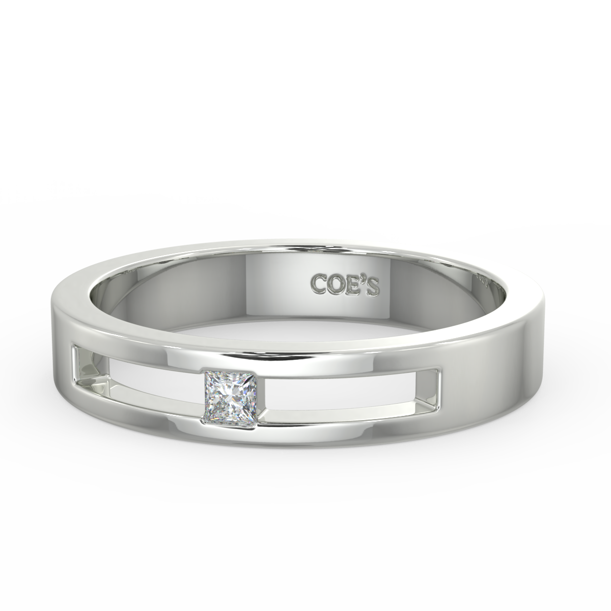 Christian - Mens diamond set wedding band