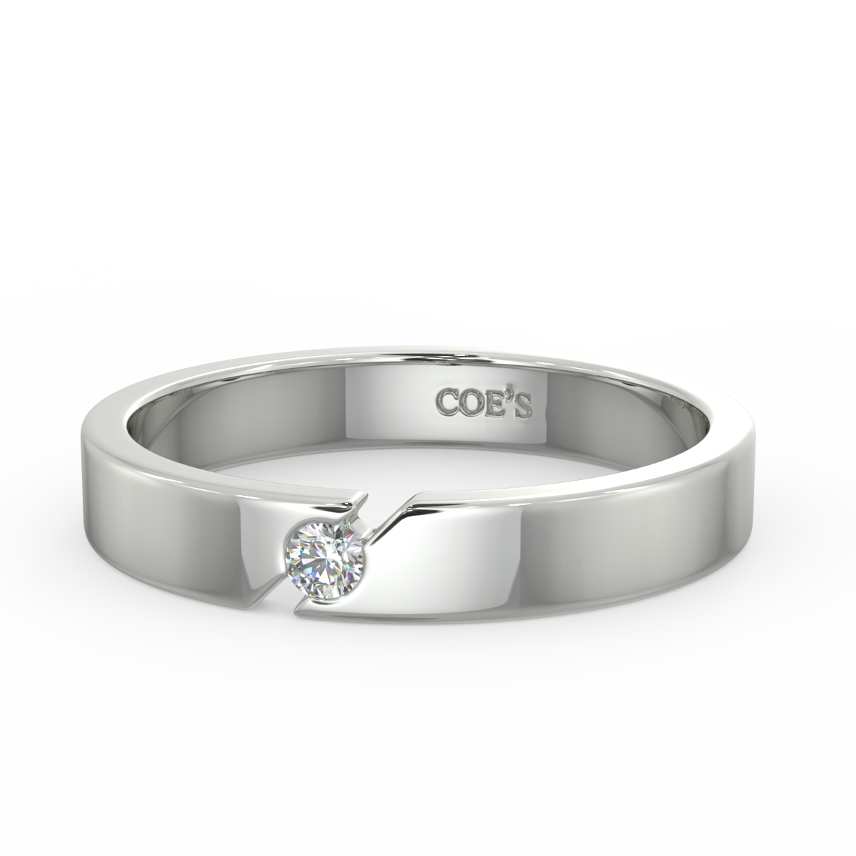 Christopher - Mens diamond set wedding band