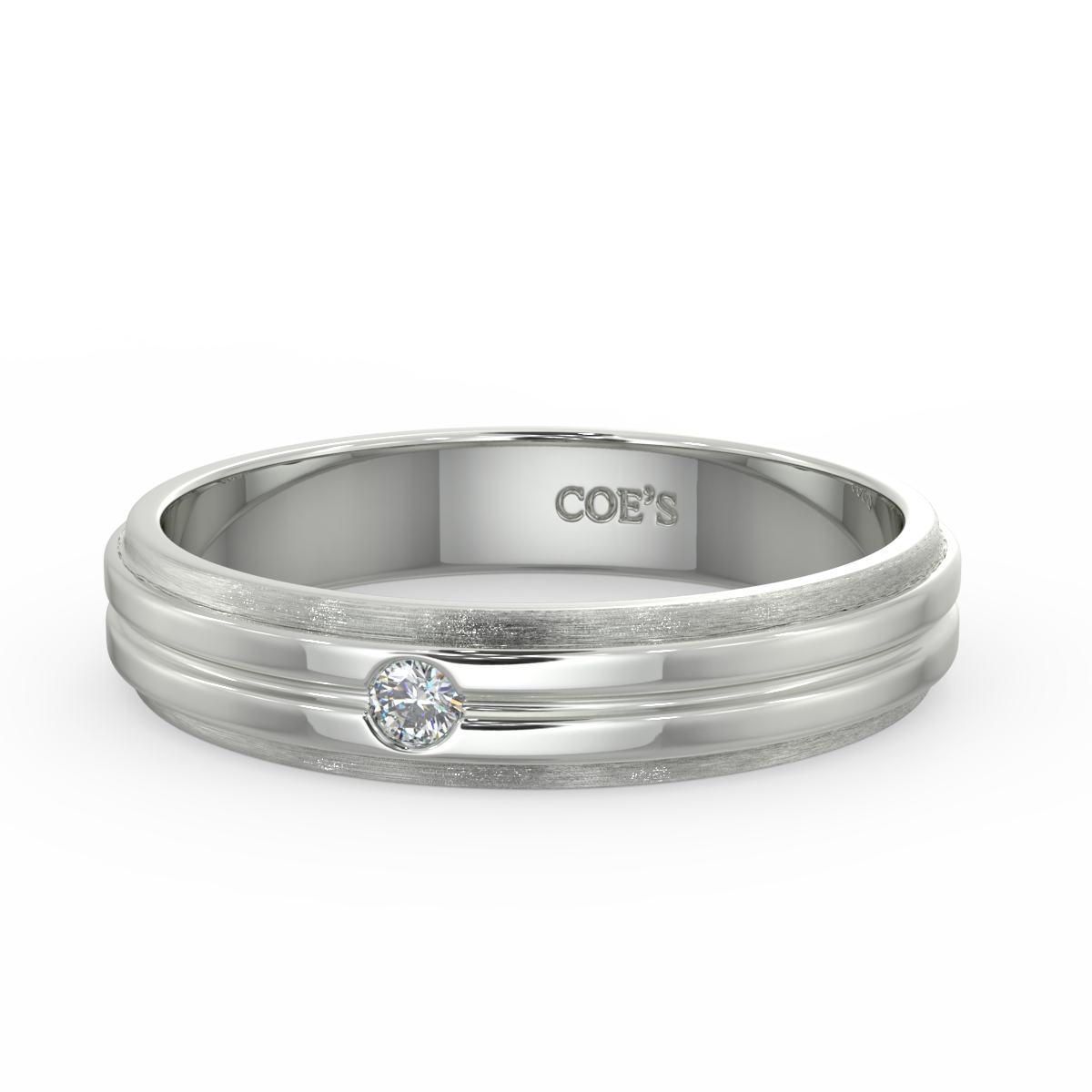 Fraser - Mens diamond set wedding band