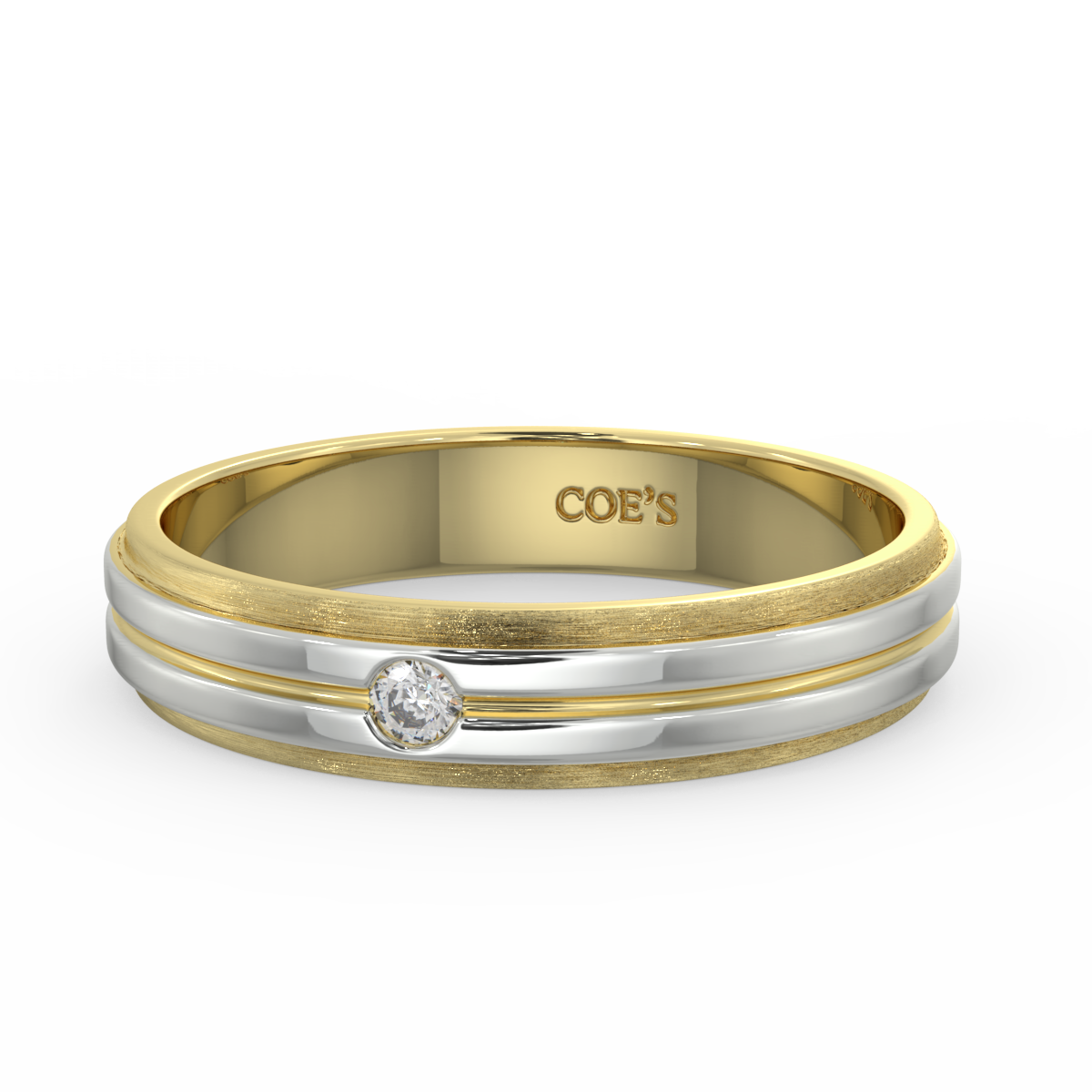 Fraser- Mens diamond set wedding band