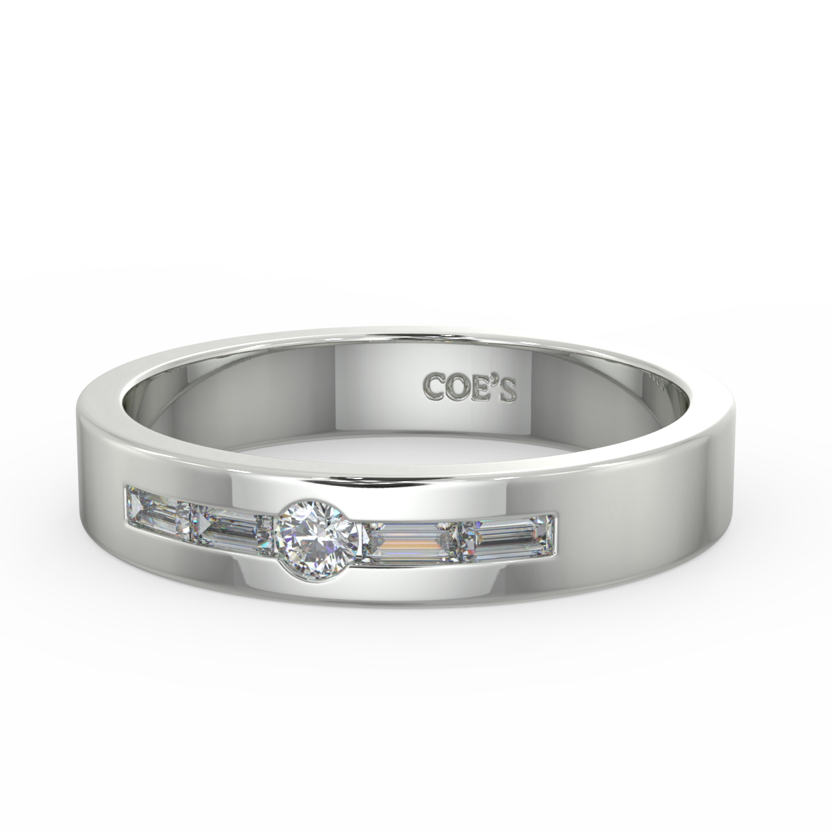 Innsbruck - Mens diamond set wedding band