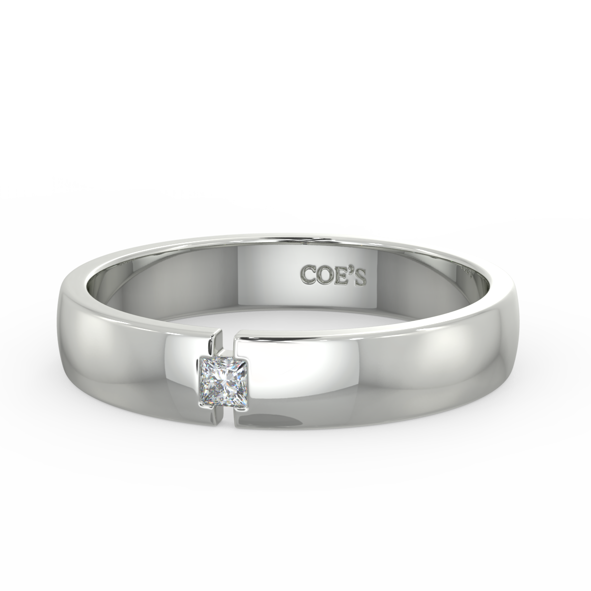 Jeremy - Mens diamond set wedding band