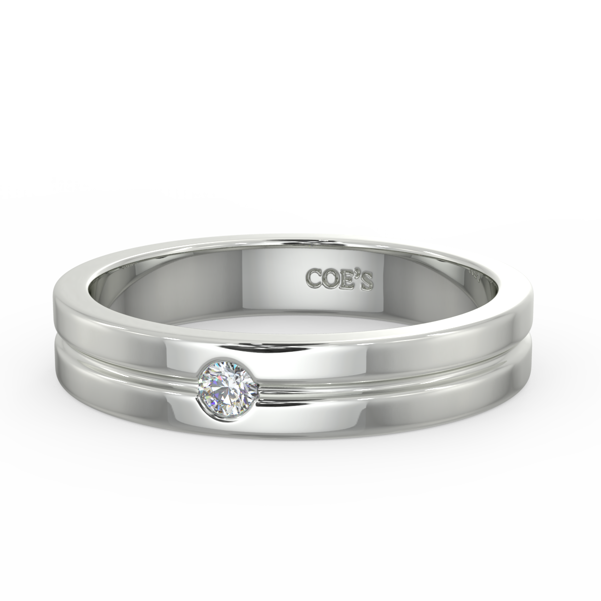 James - Mens diamond set wedding band