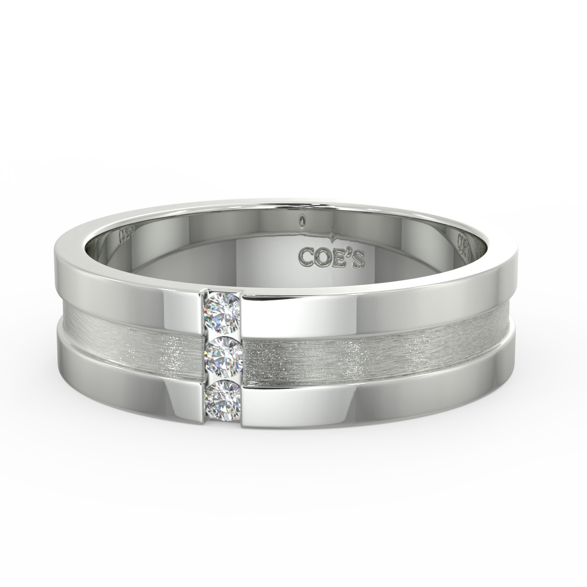 Prince - Mens diamond set wedding band