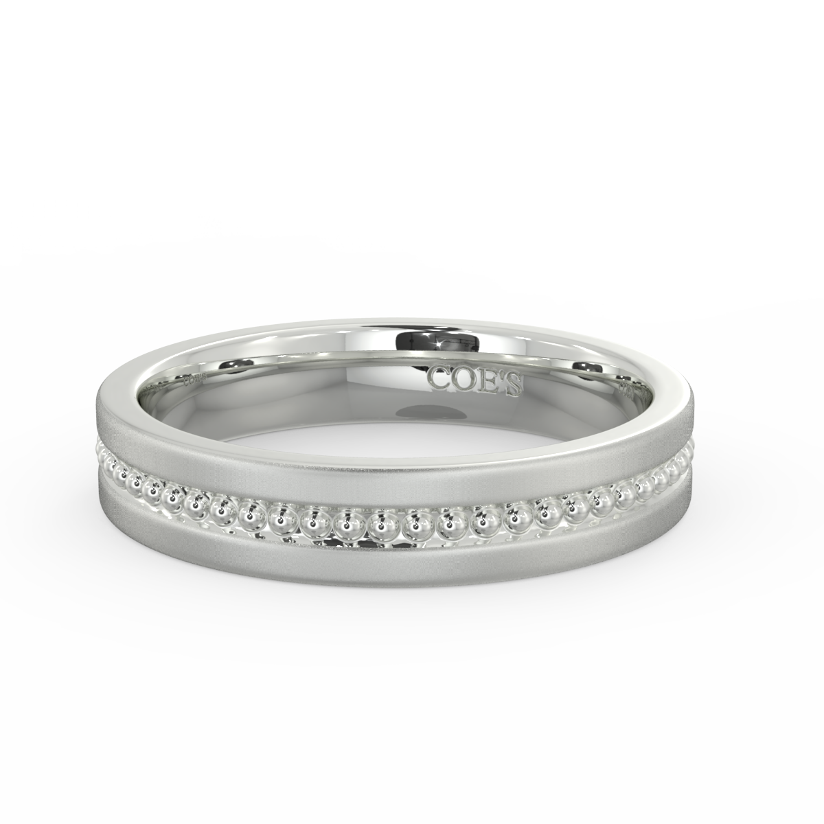 Mens Milgrain Wedding Band