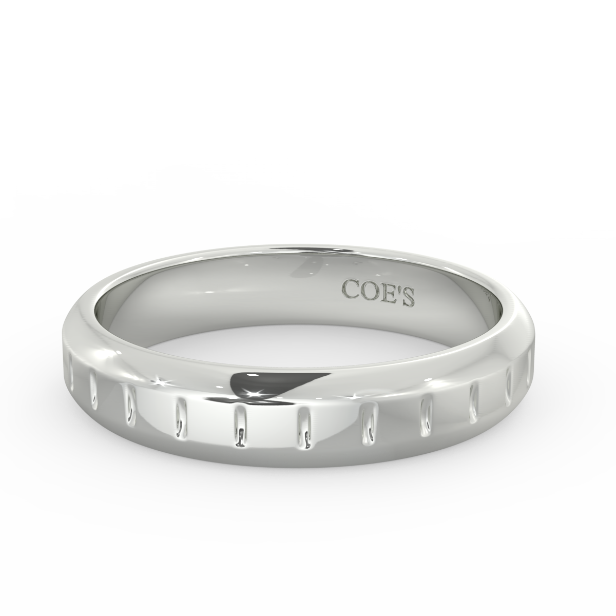Mens Tapered Wedding Band