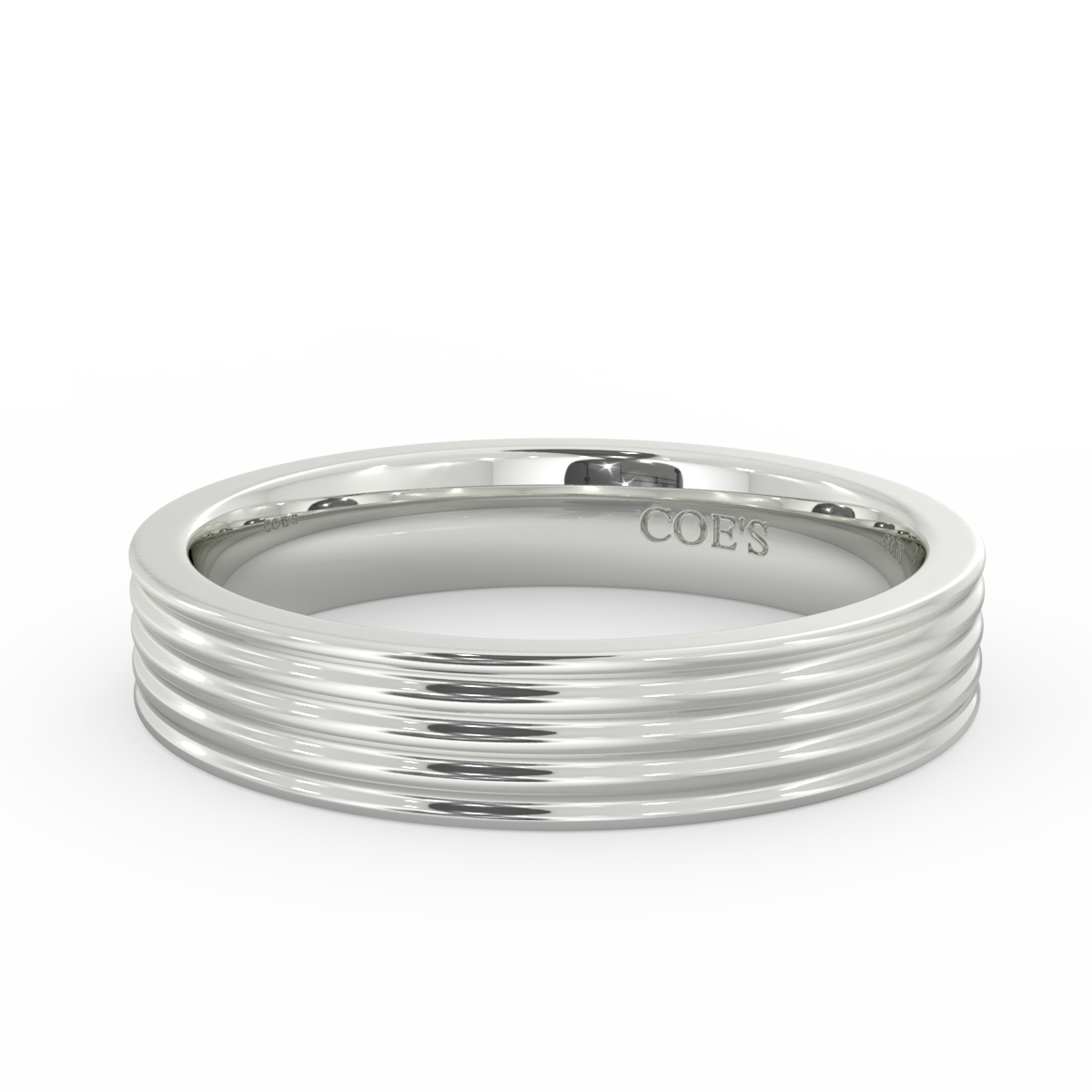 Ribbed Wedding Band